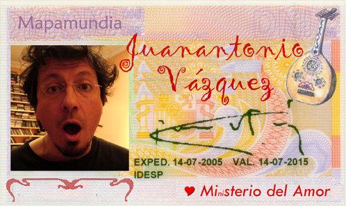 Juan Antonio asombrado por la maravillosa selección musical de Mapamundi